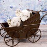 Drewniane wózki dla lalek
